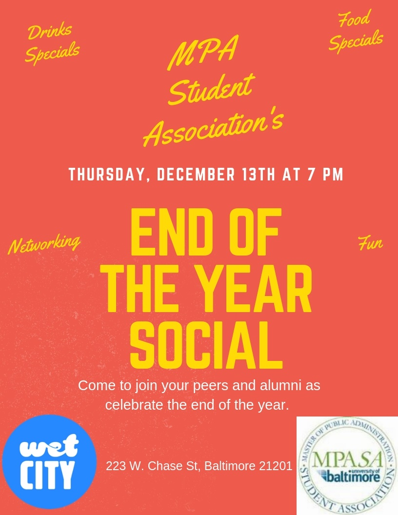 MPA Student Association End of the Year Social